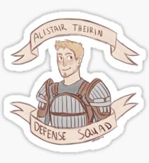 Dragon Age Origins: ALISTAIR THEIRIN DEFENSE SQUAD Sticker