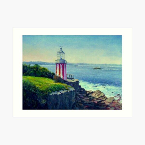 Painting of Hornby Lighthouse Sydney Australia Art Print