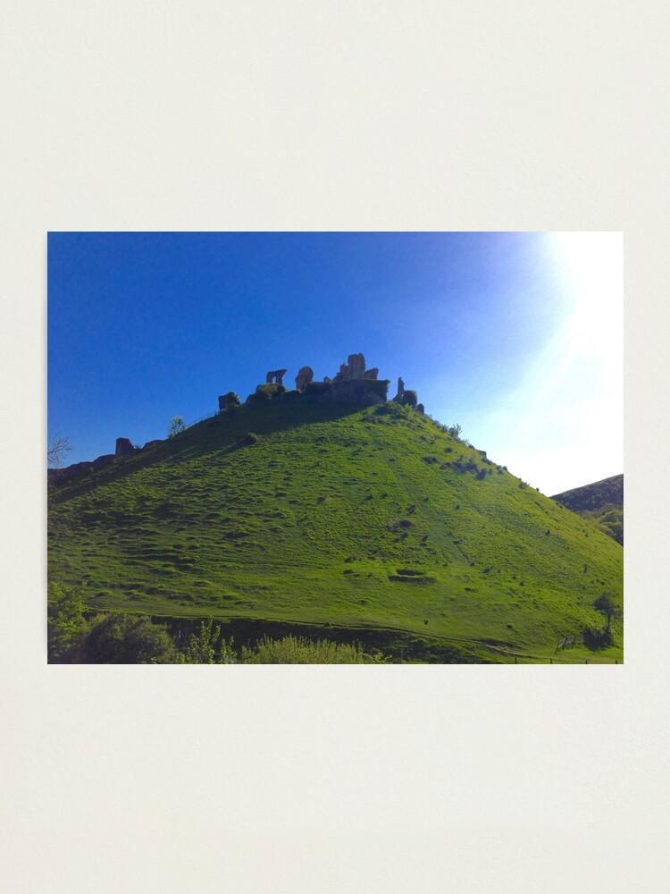 Alternate view of Corfe Castle, England Photographic Print