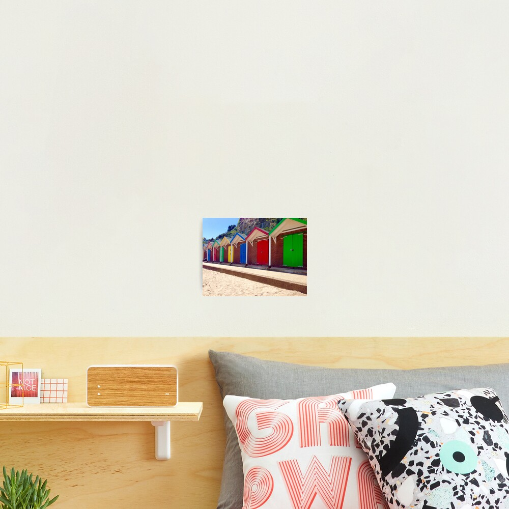 Colorful Beach Sheds Photographic Print