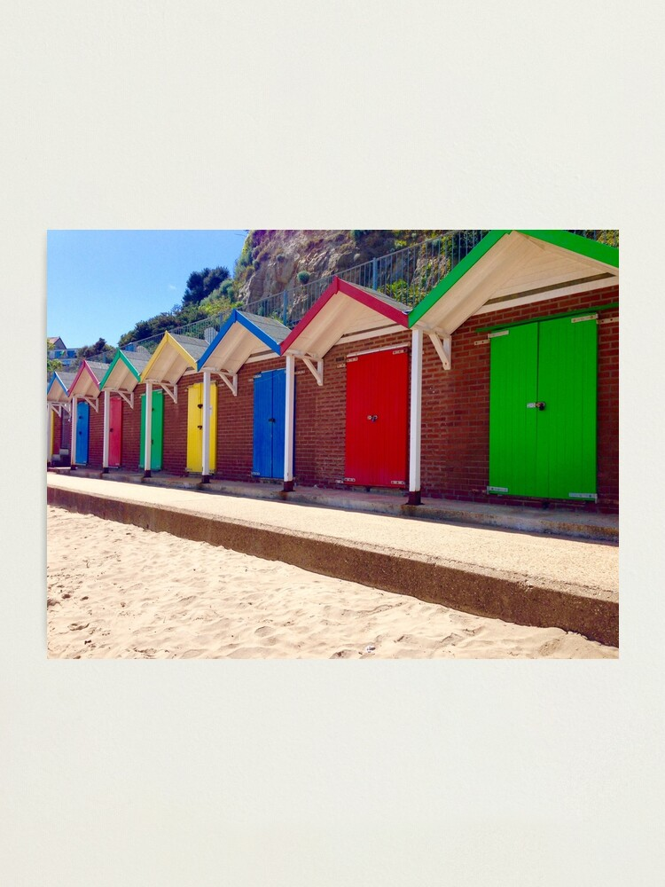 Alternate view of Colorful Beach Sheds Photographic Print