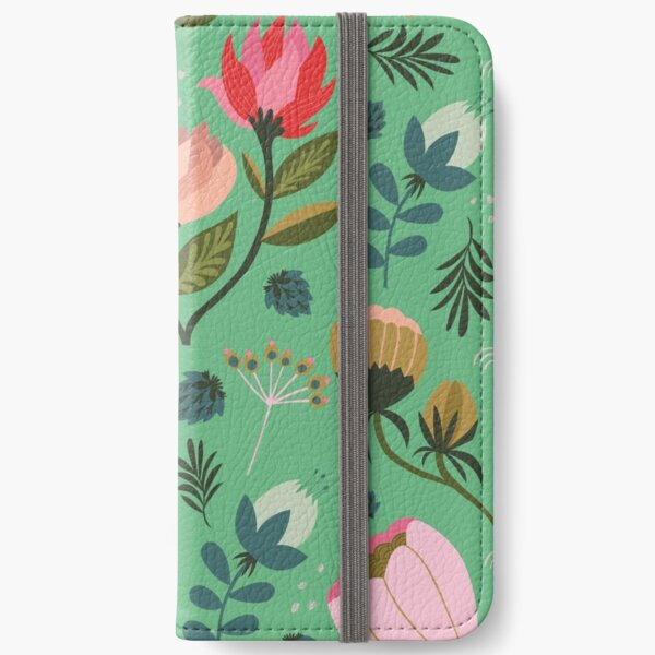 Pretty Florals iPhone Wallet