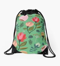Pretty Florals Drawstring Bag