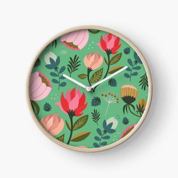 Pretty Florals Clock