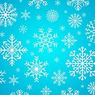Blue Snowing Pattern  | Festive Winter Design by Thubakabra