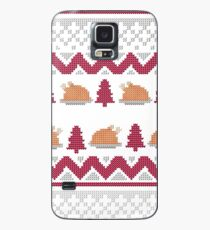 Knitted Chicken Red 2 Case/Skin for Samsung Galaxy