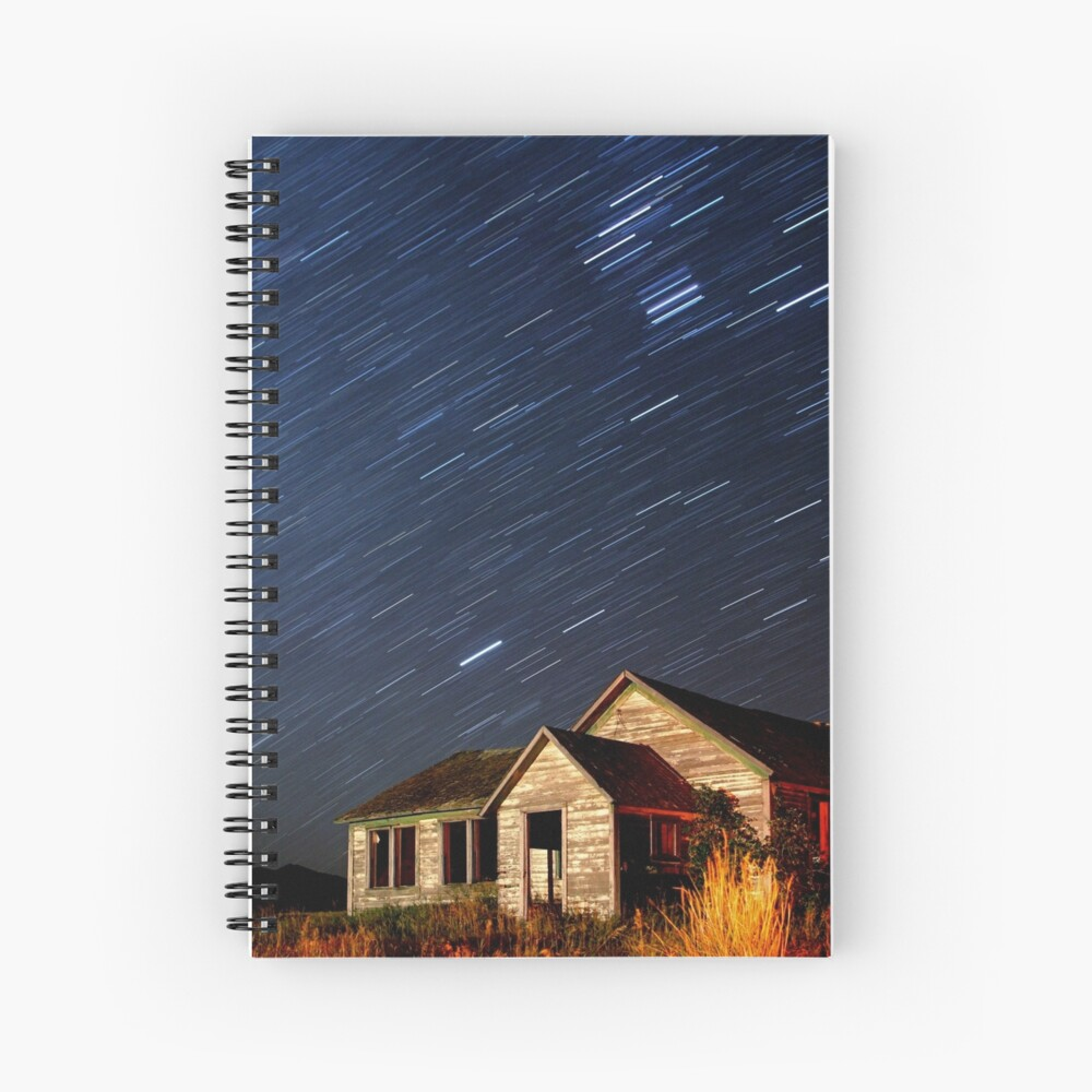 Orion Screaming Overhead - Star Trails Spiral Notebook