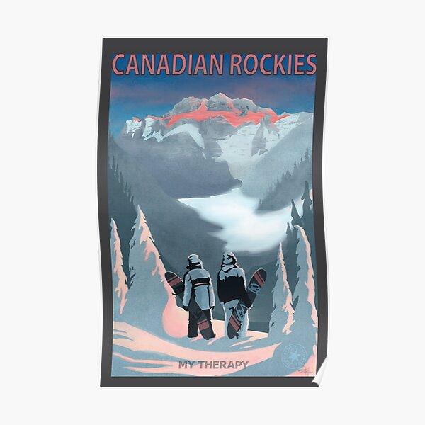 Retro Snow Board Therapy Poster