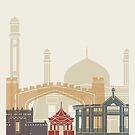 Quetta-Skyline-Plakat von paulrommer