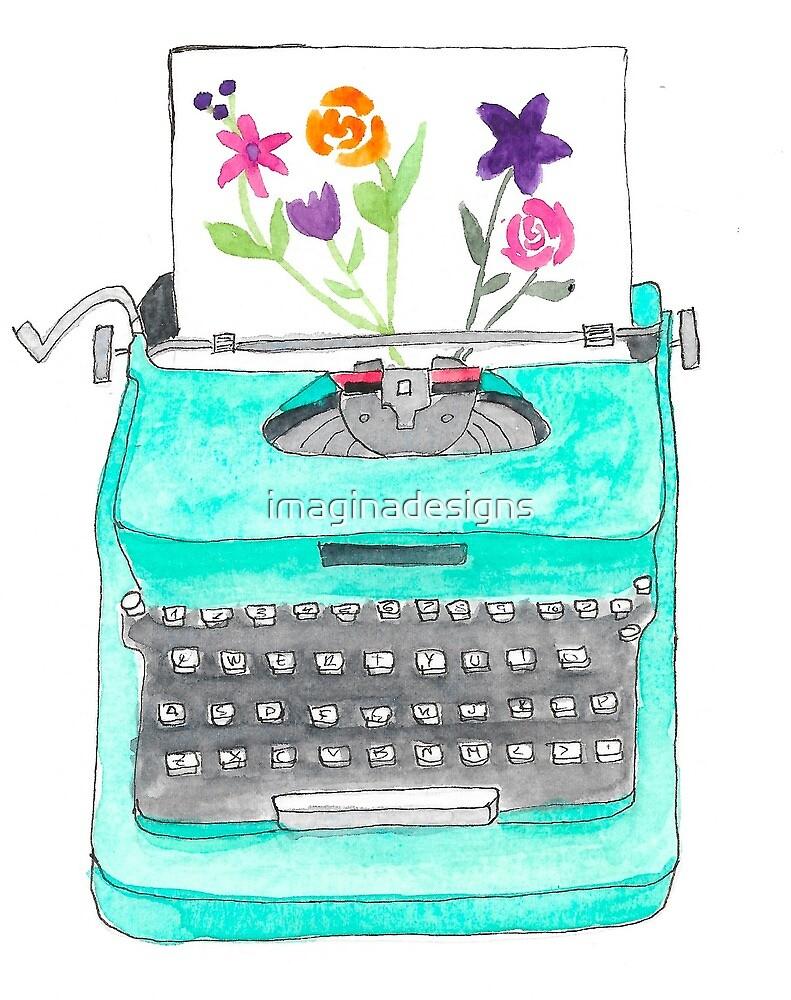 «Máquina de escribir vintage» de imaginadesigns