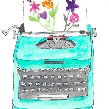 Máquina de escribir vintage de imaginadesigns