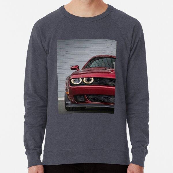 New Men/'s Dodge Challenger Demon SRT Red Raglan Hoodie Hellcat Muscle Car Racing