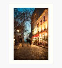 Place du Tertre, Paris Art Print