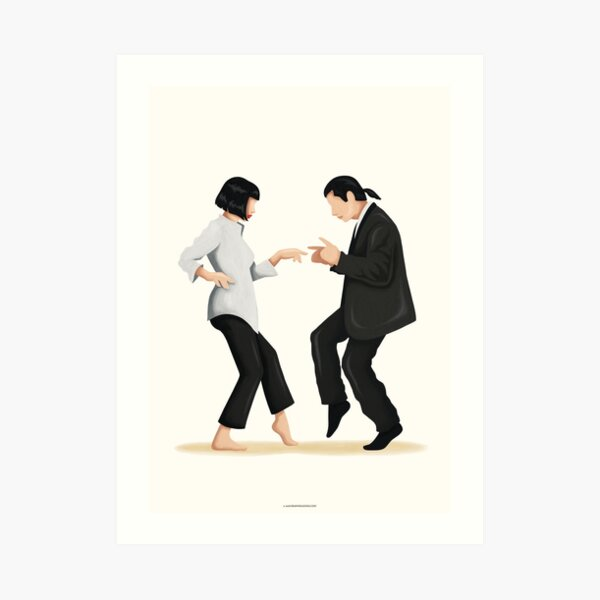 Pulp Fiction Twist Dance | Pop Culture Art Art Print