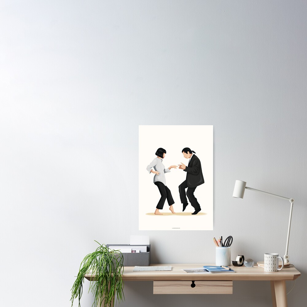 Pulp Fiction Twist Dance | Pop Culture Art Poster