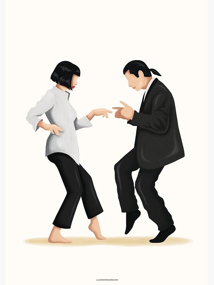 Pulp Fiction Twist Dance | Pop Culture Art by nourtohme