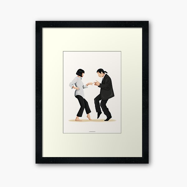 Pulp Fiction Twist Dance | Pop Culture Art Framed Art Print