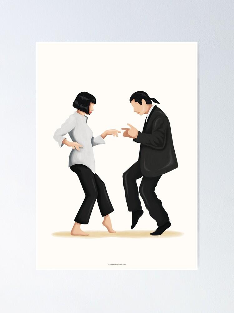 Alternate view of Pulp Fiction Twist Dance | Pop Culture Art Poster