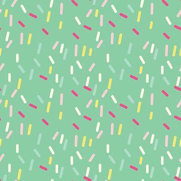 Sprinkles in Teal by holaemily