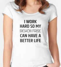 I Work Hard So My Bichon Frise Can Have A Better Life Women's Fitted Scoop T-Shirt