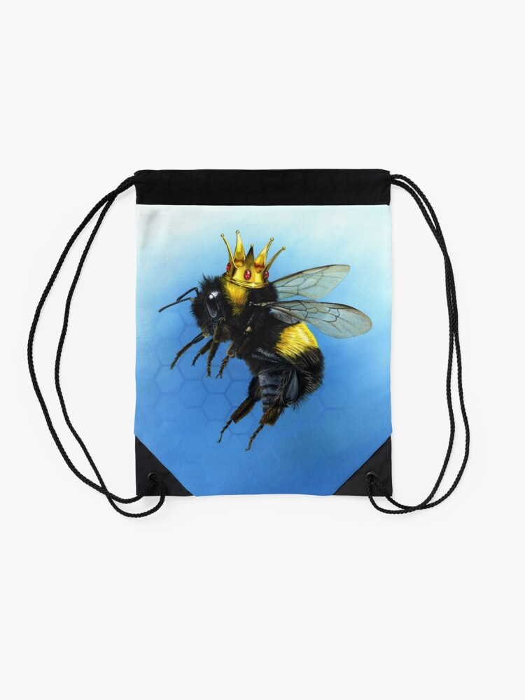 Alternate view of Queen Bee Drawstring Bag