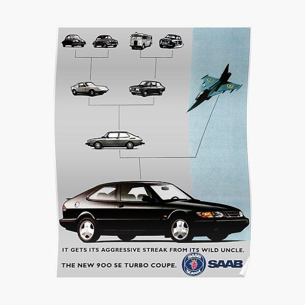 SAAB 900 TURBO SE Poster