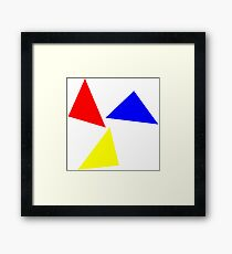 three colored triangle  Framed Print
