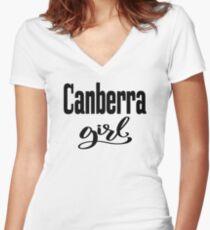 Canberra Girl Australia Raised Me Women's Fitted V-Neck T-Shirt