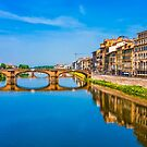 Bridge and Buildings on Arno River by dbvirago