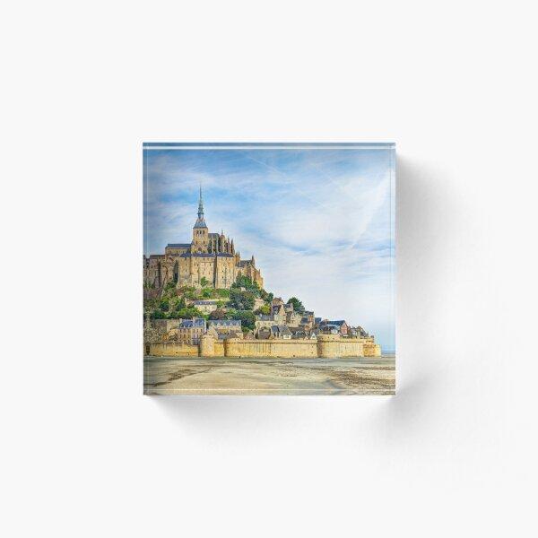Mont Saint Michel at low tide Acrylic Block