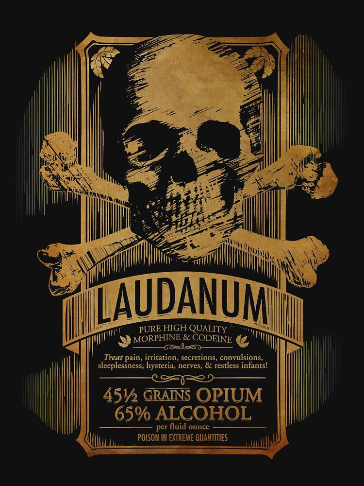 Laudanum Medical Goth Steampunk Label by carlhuber
