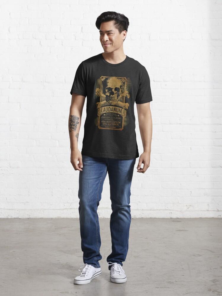 Alternate view of Laudanum Medical Goth Steampunk Label Essential T-Shirt