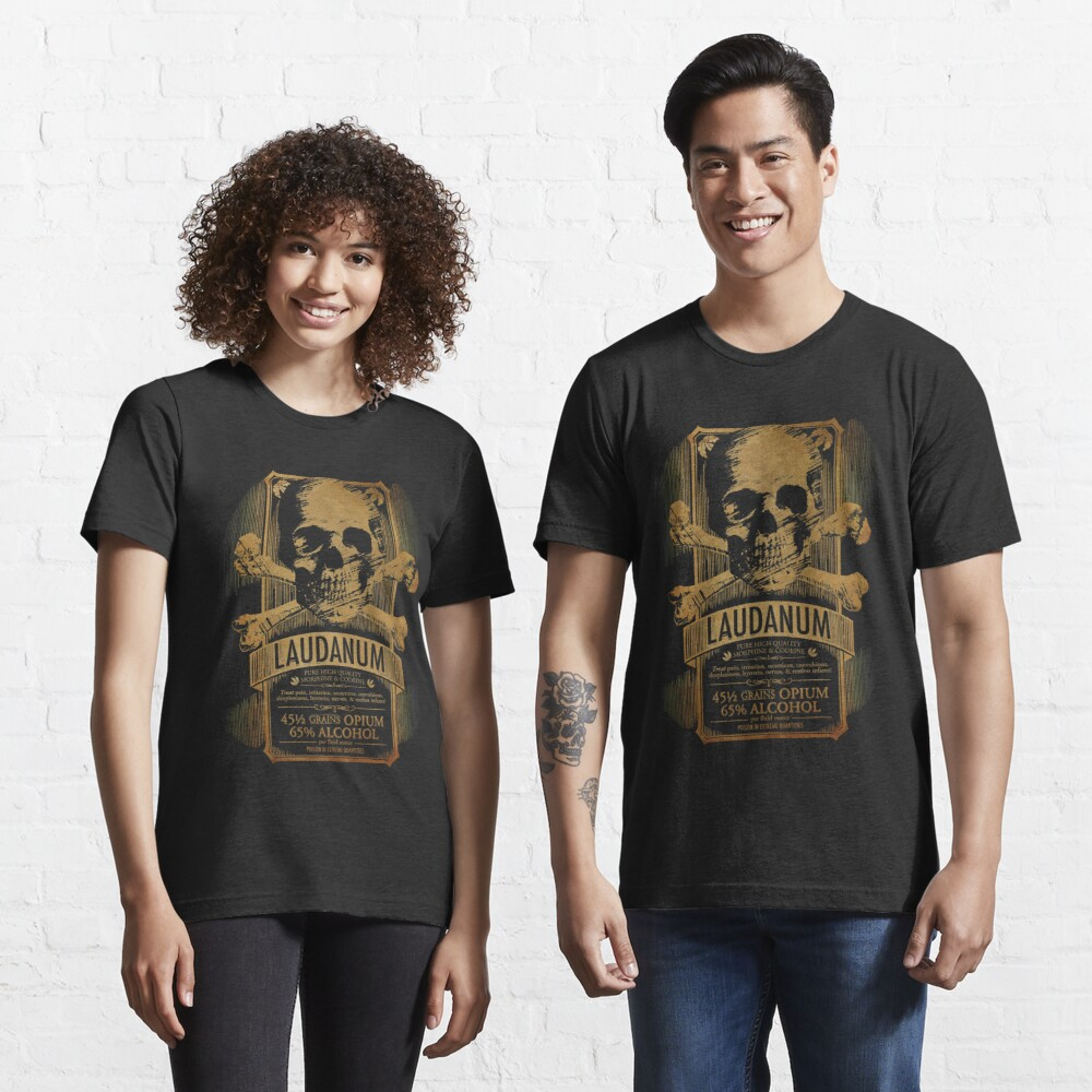 Laudanum Medical Goth Steampunk Label Essential T-Shirt