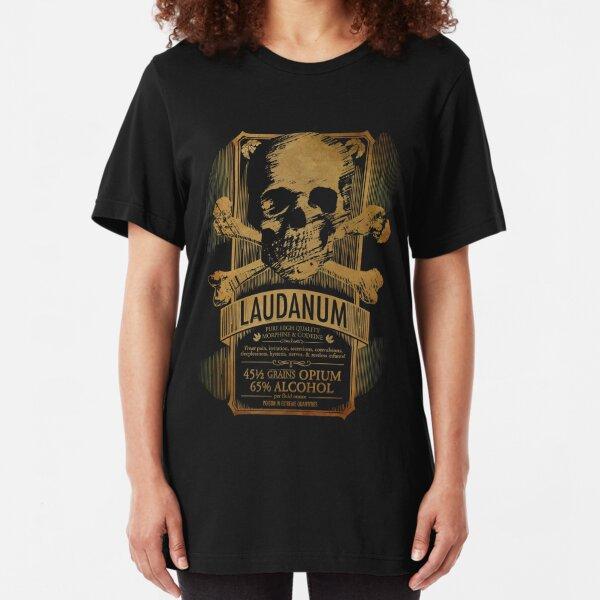 Laudanum Medical Goth Steampunk Label Slim Fit T-Shirt