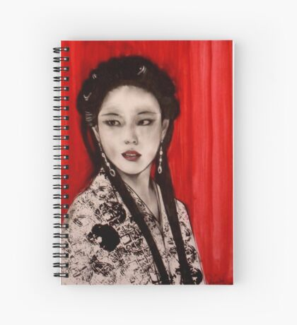 Exotica with Red Curtain    Spiral Notebook