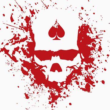 Hard Volume Splatter Skull by joenatoli