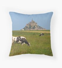 Mont Saint Michel - a view Throw Pillow