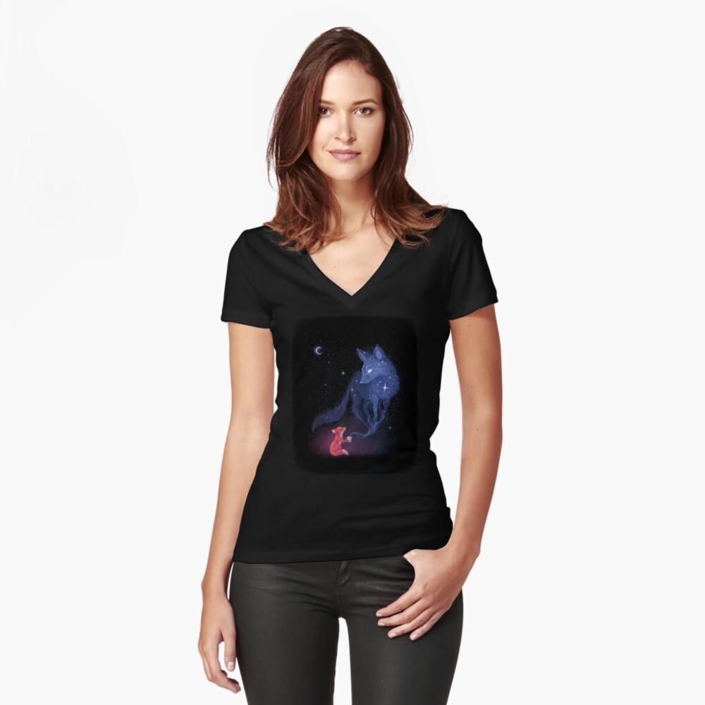 Celestial Fitted V-Neck T-Shirt