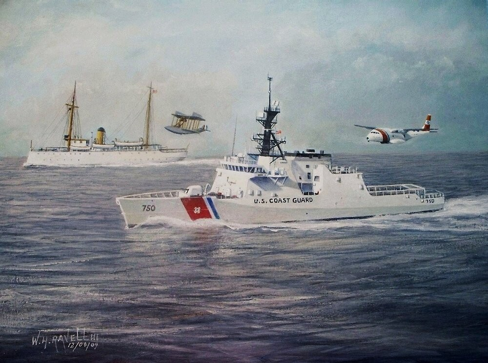 U. S. Coast Guard Then and Now - 1915-2009 by William H. RaVell III