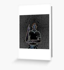 """A person of color"" Greeting Card"