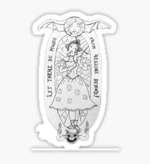 Haunted Lady in White Sticker