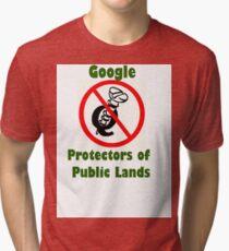 4Q T-Shirt . Style T5 Google Protectors of Public Lands Tri-blend T-Shirt