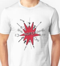 Cool pop art retro design with the saying Nope! Unisex T-Shirt