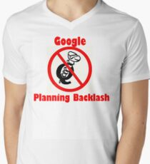 4Q T-Shirt . Style T3 Google Planning Backlash Men's V-Neck T-Shirt