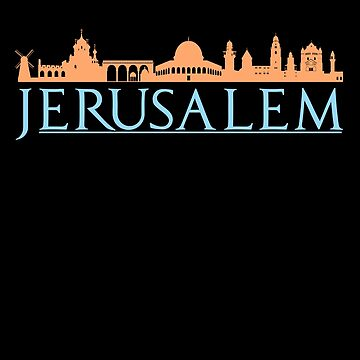 Jerusalem Israel Skyline Souvenir by IvonDesign