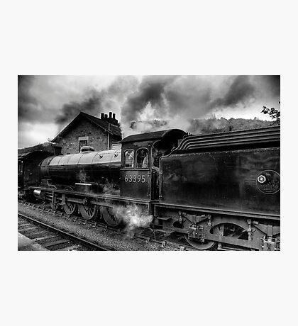 Steam Engine No.63395 Photographic Print