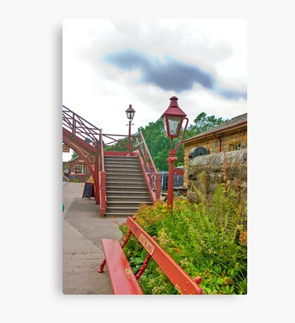 Steps & Lights at Goathland Station Canvas Print