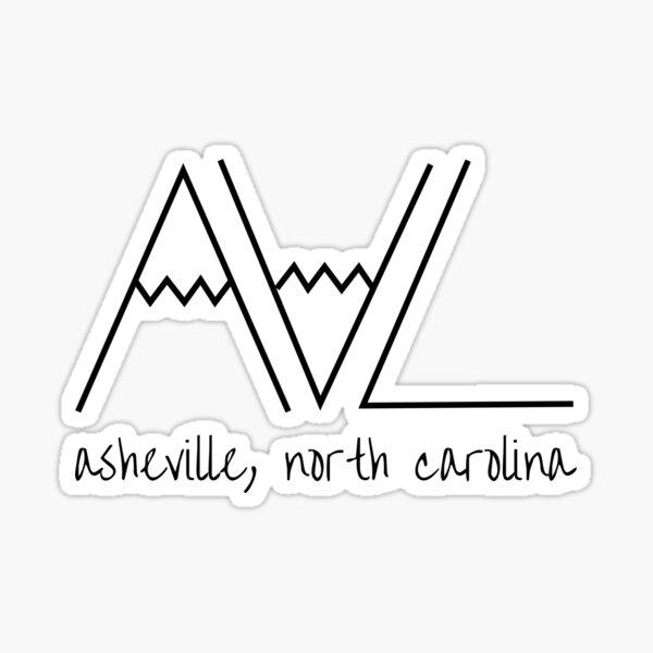 asheville nc mountains Sticker