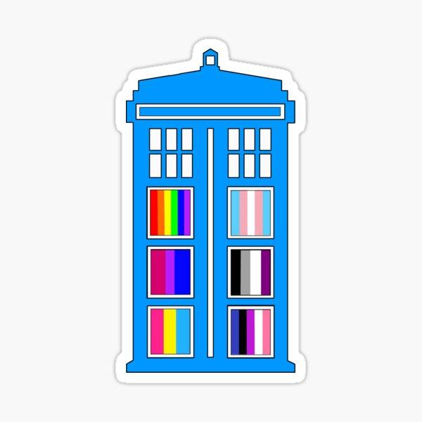 Queer Tardis Sticker
