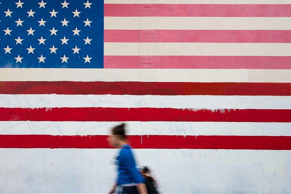 Stars And Stripes Mural by Mark Eden
